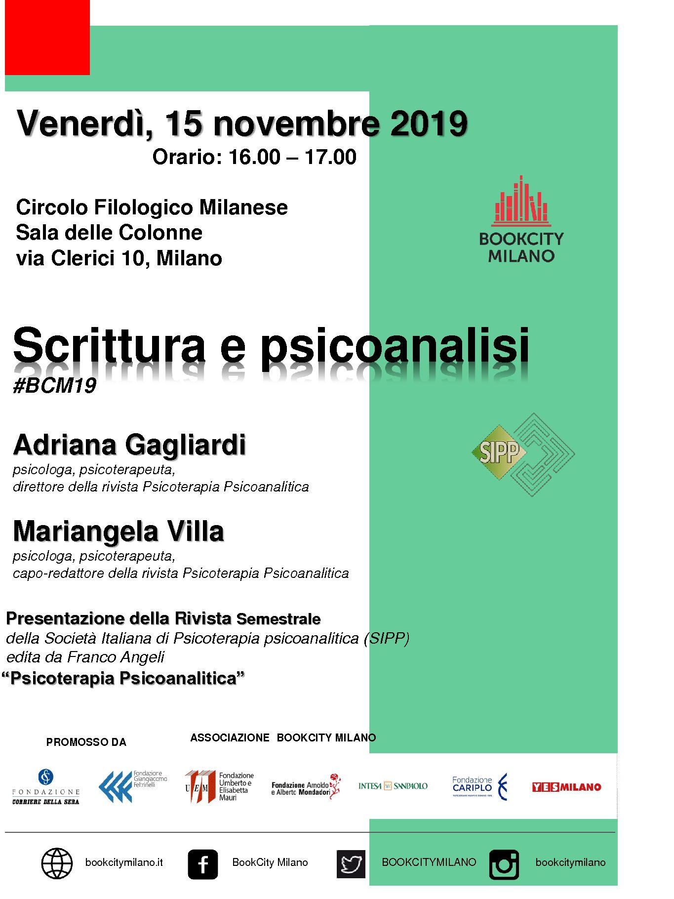 """Centro Filologico Milanese – Convegno """"Scrittura e Psicoanalisi"""""""